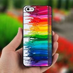 Melting Crayon Colorful for iPhone 4 case, iPhone 5 case and Samsung Galaxy s3 case via Etsy
