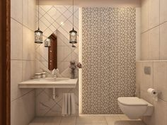 Nicely Designed #BathroomInterior and #Construction #Work by #AAA #InteriorDesign Bathroom Designs, Bathroom Interior Design, Toilet, Sink, Construction, Home Decor, Sink Tops, Building, Flush Toilet
