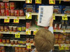 Food Bank Shopping List for Kids -take  this list with photos of foods to the store to find items food banks need most.