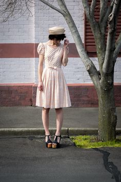 Megan von de vintage shoot by Peter Berzanskis Frocks, Editorial, Photoshoot, Brown, Shoes, Vintage, Style, Fashion, Swag