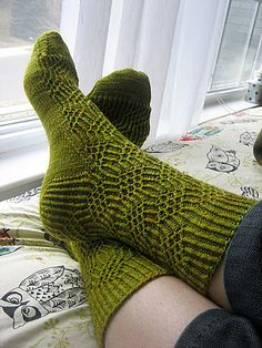 Ravelry: Julia Socks pattern by Emily Johnson Loom Knitting, Knitting Socks, Hand Knitting, Knitting Patterns, Knitted Slippers, Wool Socks, Slipper Socks, Winter Socks, Knit Picks