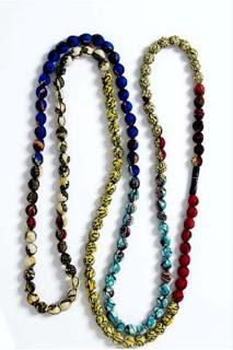 Diy Necklaces  : DIY: How To Make A Fabric Bead Necklace