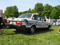 Volvo 240 DL Police Car Police Cars, Police Vehicles, Volvo 240, Volvo Cars, Auto Service, Emergency Vehicles, Law Enforcement, Fire Trucks, Classic Cars