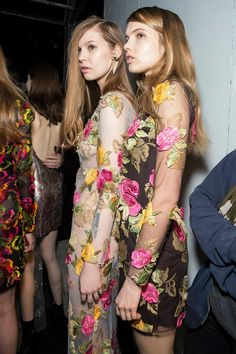 Wild and Tactile - Blumarine Fall Winter 2015/2016 Fashion Show Backstage #mfw