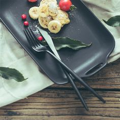 Spoon Knife, Knife And Fork, Griddle Pan, Portugal, Stainless Steel, Store, Tableware, Black, Food