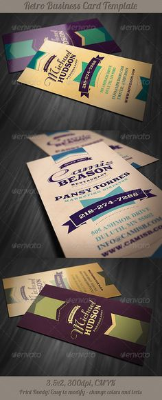 Retro Business Card 3 - Retro/Vintage Business Cards