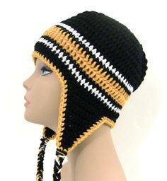 Free Crochet Pattern For Mens Earflap Hat : 1000+ images about Mens crocheted hats on Pinterest ...