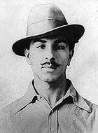 Bhagat Singh - A charismatic Indian socialist revolutionary whose acts of dramatic violence against the British in India and execution the age of 23 accelerated the removal of the British from India.