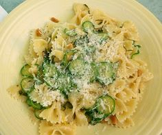 Zucchini and basil pasta. Will add cherry tomatoes. Delicious and easy. My favorite kind of recipe.