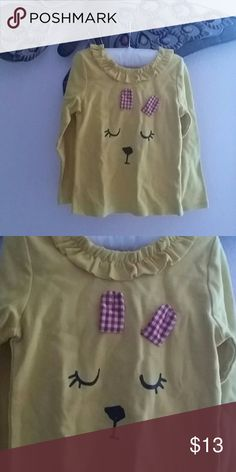 ??Yellow Sleepy Eyes Top???? An adorable cotton top, with a cute design. Long sleeve, perfect for the play yard. ??This item is brand new and never have been used.?? Leighton Alexander Shirts & Tops Tees - Long Sleeve
