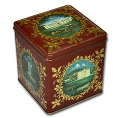 "VINTAGE TIN JACKSON'S OF PICCADILLY ""THE DUCHESS OF DEVONSHIRE'S TEA"" HINGED LID"