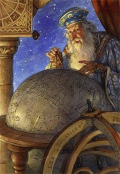 """""""The Astrologer"""" ~ Scott Gustafson ~ Click through the large version for a full-screen view (with a black background in Firefox). Set your computer for full-screen. ~ Miks' Pics """"Artsy Fartsy lV"""" board @ http://www.pinterest.com/msmgish/artsy-fartsy-lv/"""