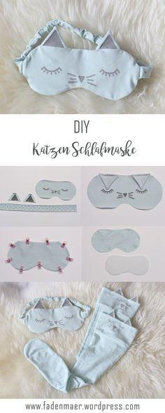 DIY Schlafmaske. DIY sleepingmask. Schlafmaske selbermachen. Schlafmaske nähen. DIY tutorial schlafmaske. DIY Katzen Schlafmaske. DIY Geschenkidee