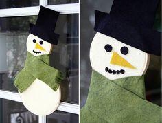 DIY: Embroidery Hoop Snowman