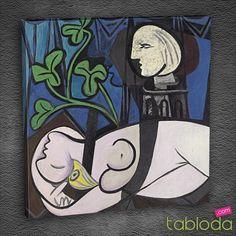 """#1resim1bilgi Picasso 1932 yılında tamamladığı """"Nude, Green Leaves and Bust"""" adlı eserinde metresi Marie-Therese Walter'ı resmetmiş. Yıllarca arkadaşlarından bile gizlediği sevgilisine o kadar düşkünmüş ki heykelini bile yapmış. #art #picasso #canvas"""