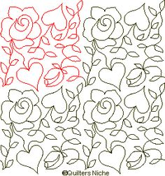 HE-021 Hearts and Roses v1 quilting design
