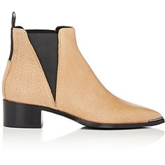 5a272598bad Jensen chelsea boots-nude by Acne Studios. Acne Studios Wheat grained  leather Jensen Chelsea boots detailed with a pointed toe and block heel.