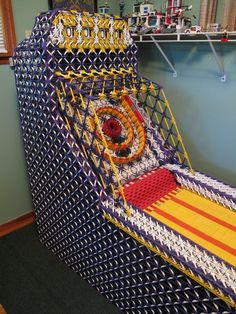 Skeeball Machine made entirely from KNEX. this dude needs a gf