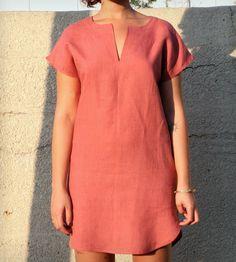 Tunic Dress: Linen Rose Tendencias, Moda Estilo, Costura, Colores, Mujeres, Ropa, Vestidos De Lino, Vestidos Túnicas, Estilo Meghan Markle