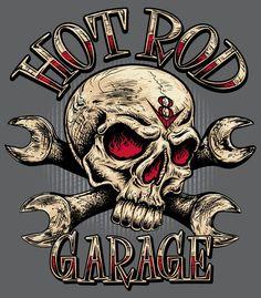 """Rat Rod"" Sign with Skull - Szukaj w Google"
