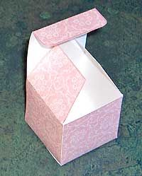 Wedding Party Favor Box Folded