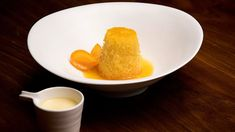 MasterChef - Steamed Pudding with Orange and Cinnamon Syrup - Recipe By: Genene Dwyer - Contestant Dariole Moulds, Gluten Free Wine, Masterchef Recipes, Cinnamon Syrup, Masterchef Australia, Orange Syrup, Candied Orange Peel, Toasted Almonds, Cream And Sugar