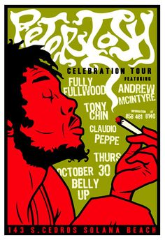 Scrojo Peter Tosh Celebration Tour Poster