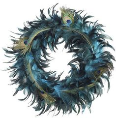 Peacock Feather Wreath - contemporary - accessories and decor - - by Pier 1 Imports