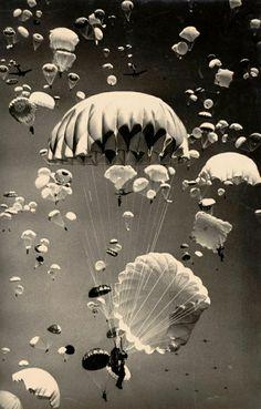 Fallschirme die wie Medusen aussehen