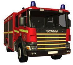 Yangın Söndüren İtfaiye Araçları PNG
