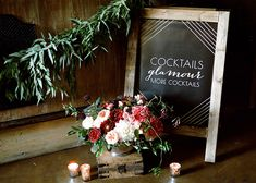 Centerpiece by Primary Petals.  Bachelorette Cocktail Party Inspiration #primarypetals
