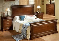24 Beautiful And Vintage Wooden Bed Designs Ideas. Wooden bed originated as bedroom furniture that was part of a set or matched pieces for the bedroom. The wooden Bedroom Bed Design, Modern Bedroom Design, Contemporary Bedroom, Bedroom Colors, Wooden Bedroom, Wooden Beds, Big Bedrooms, Bedroom Layouts, Luxurious Bedrooms