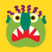 Go Away, Big Green Monster (Night & Day Studios) Turns scary monsters into silly, and empowers kids to take control of their fears. Kind Kids App because of the bold graphics, the wonderful concept and the user friendliness.