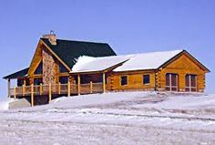 Cabin style home in Wyoming.
