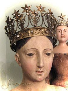 santos crowns | Santos Cage Doll — Jeweled French Star Santos Crown 3.75 inches wide