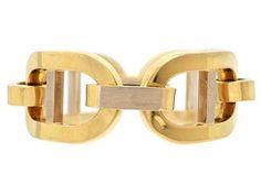BRACELET, 18 K gold, partly matte finish, length 20 cm,  weight 114 g.