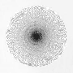 ●●●●●●●●●● ●●●●●●●●●● ●●● Drawing by Cyril Galmiche #circle #line #drawing #circular #round #geometry #screenprinting #minimalism #worksonpaper #Handmade #Bw #Blackandwhite #circular