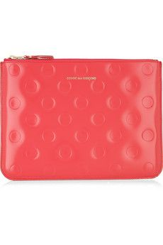 beautiful // Comme des Garcons // polka dot-embossed leather pouch