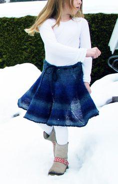 Strikk et morsomt skjørt som barnet ditt vil elske Barnet, Lace Skirt, Tulle, Ballet Skirt, Skirts, Knitting Ideas, Fashion, Dance In, Moda