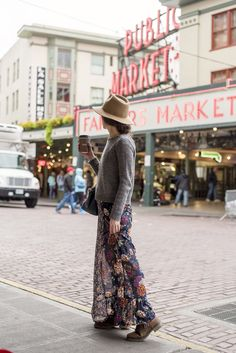 Love the sweater, dress and boots combo! Strolling Pike Place Market | Story of My Dress #style #fashion #streetstyle #pikeplacemarket #seattle #seattlestyle #emuaustralia #madewell #sezane #targetstyle #mooreaseal