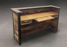 Reclaimed Wood Desk Furniture - http://burgerjointdc.com/reclaimed-wood-desk-furniture/