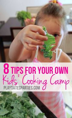 Want to teach your kids to cook? With a little bit of planning and some creativity, you can have your own kids cooking camp at home this summer! Cooking with Kids Kids Cooking Party, Cooking With Kids Easy, Kids Cooking Recipes, Easy Meals For Kids, Cooking Classes For Kids, Fun Cooking, Kids Meals, Cooking Tips, Cooking School