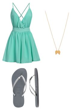 """Birthday"" by sami-cardinals on Polyvore featuring Havaianas and Dogeared"