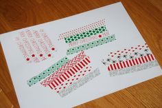 Washi tape Christmas cards - it's a great and easy Christmas craft idea for kids
