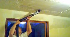 Aaron Rollins came up with a no-mess, no-stress method to remove popcorn ceilings, and it couldn't possibly be easier.