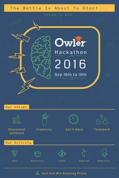 "Check out my @Behance project: ""Owler Hackathon Event""…"