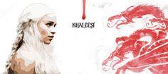 """Khaleesi é a palavra em Dothraki que se refere ao título de mulher do """"khal"""". Esta caneca é nossa homenagem a Daenerys Targaryen, a khaleesi, mãe dos dragões e única herdeira viva da família Targaryen. Uma das nossas personagens favoritas de Game of Thrones! A caneca Khaleesi é ideal para assistir Game of Thrones bebendo um chá ou café - e faz um belo par com a caneca de Game of Thrones. Descrição técnica da Caneca Khaleesi A Caneca Khaleesi é de cerâmica branca, tem 9,5 cm de altur..."""