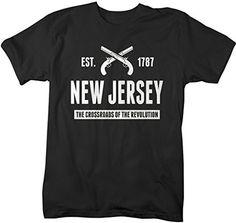 Shirts By Sarah Men's New Jersey State Nickname Shirt Crossroads Revolution T-Shirts Est. 1787