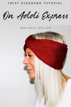 headband tutorial express twist knit addi Twist Knit Headband Addi Express Tutorial You can find Knitting machine and more on our website Simply Knitting, Knitting Blogs, How To Start Knitting, Knitting For Beginners, Loom Knitting, Free Knitting, Knitting Ideas, Knitting Projects, Free Crochet
