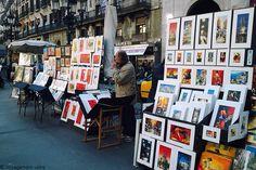 Les Artistes de rue de La Rambla à Barcelone